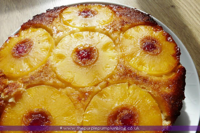 Pineapple & Coconut Upside Down Cake at The Purple Pumpkin Blog