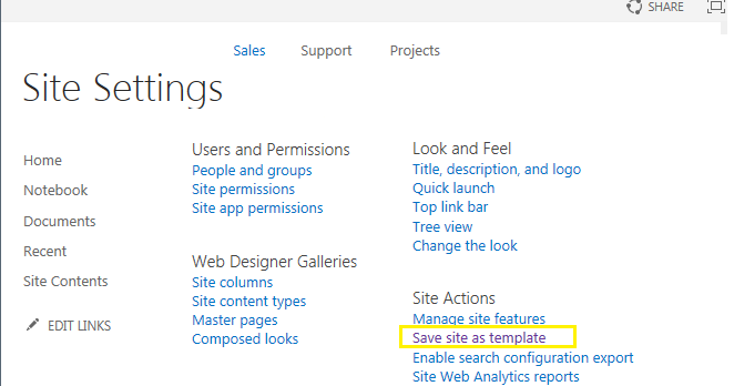 Save Site As Template In Sharepoint 2013 Using Powershell