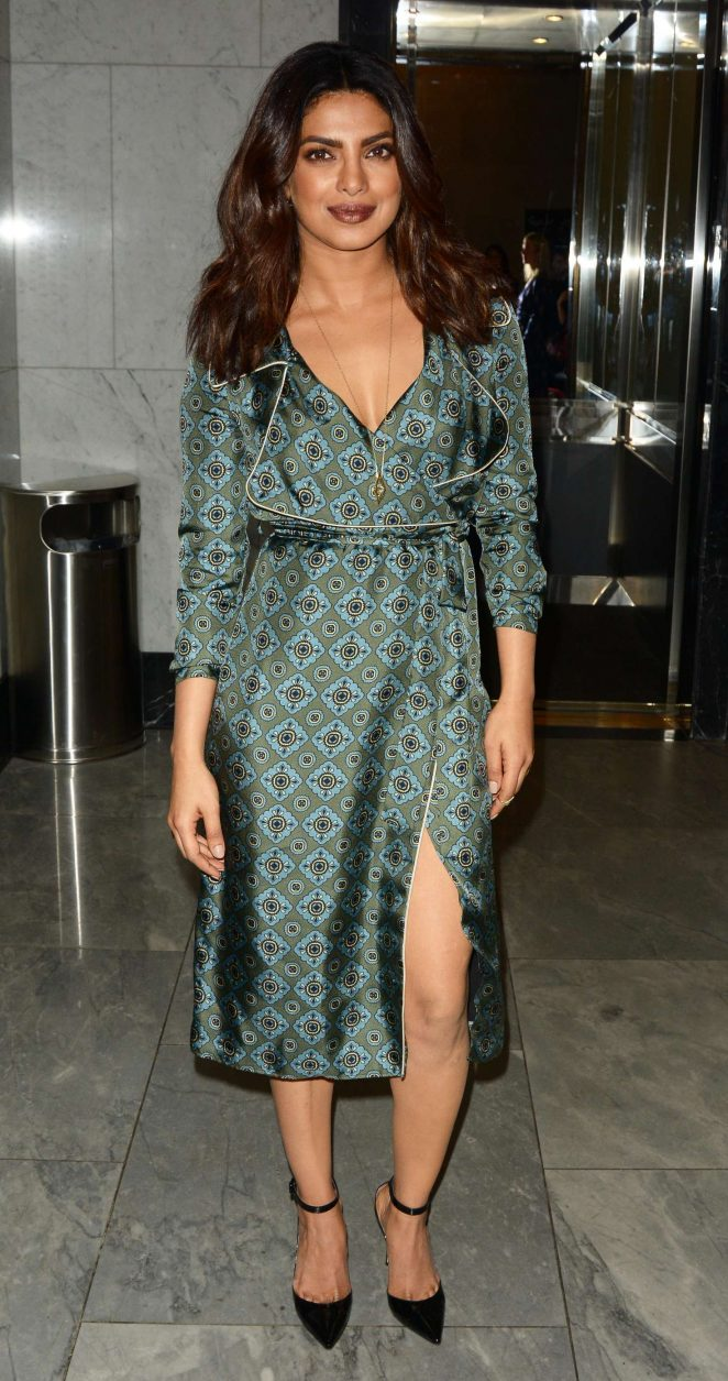 Priyanka Chopra In green Dress At Quantico at The Paley Center