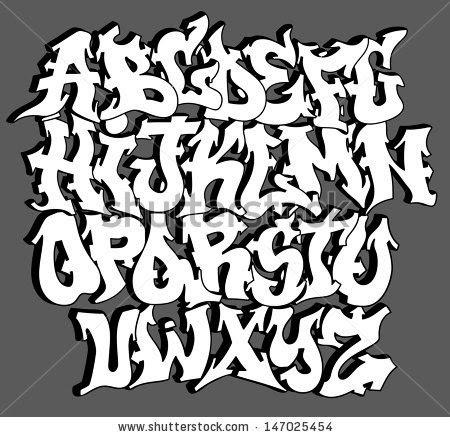 graffitie graffiti font alphabet. Black Bedroom Furniture Sets. Home Design Ideas