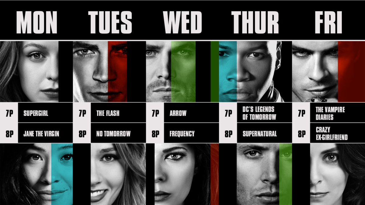 The CW line up schedule