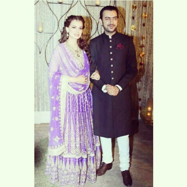 dia mirza on her sangeet in delhi !! del hi, sangeet, dia mirza, actress, beautiful, gorgeous, look s, bollywood, lover s, !!, Dia Mirza Wedding Photos with Sahil sangha