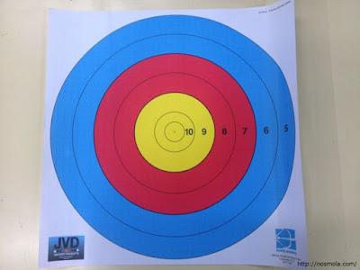 diana para distancias cortas de tiro con arco