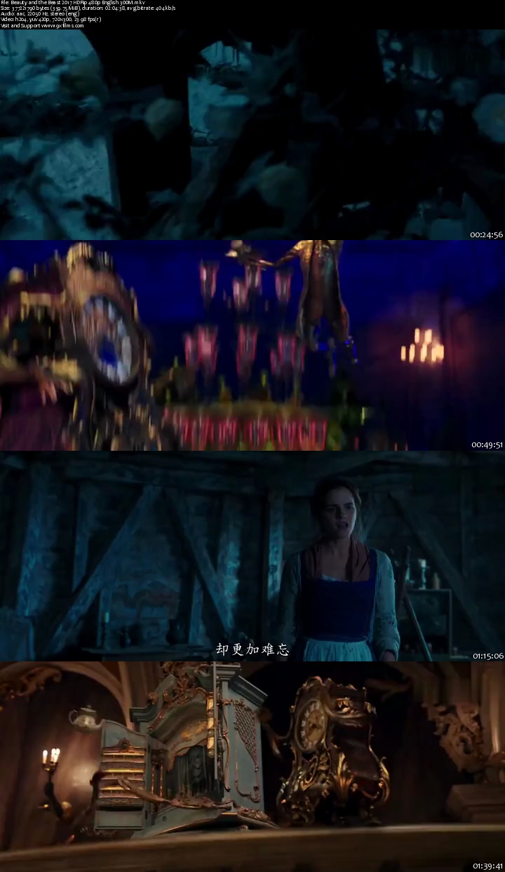Beauty and the Beast YIFY subtitles - details