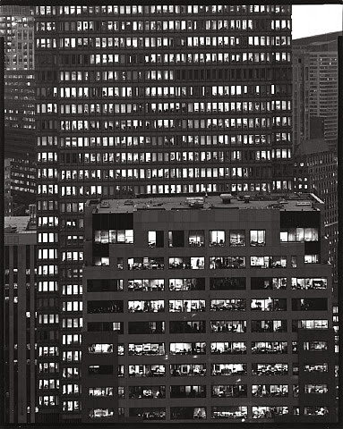 Nicholas Nixon, View of State Street Bank, Boston, 2002