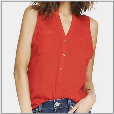 Red Sleeveless Portofino Shirt