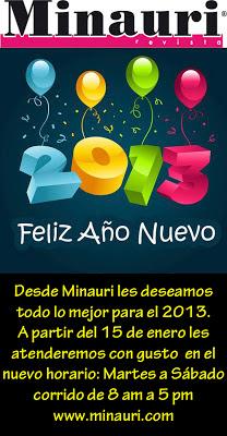 Feliz Año Nuevo 2013 - Nuevo Horario a partir Enero 2013 - Happy New Year