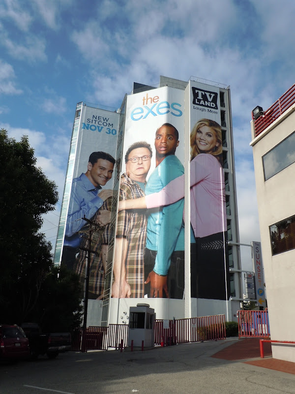 The Exes giant TV billboard