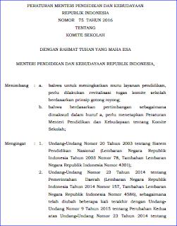 Peran Penting Komite Sekolah Berdasarkan Pemendikbud No 75 Tahun 2016 Update 2017