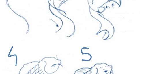 Cara Menggambar Ikan Koi Dengan Mudah ~ Pelajaran Menggambar