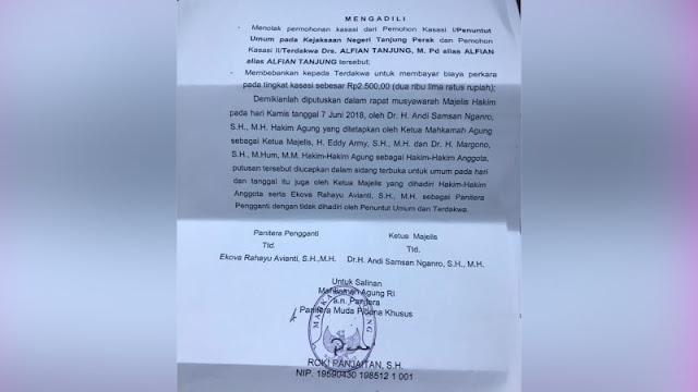 MA Perkuat Vonis 2 Tahun Alfian Tanjung di Kasus Hate Speech Jokowi