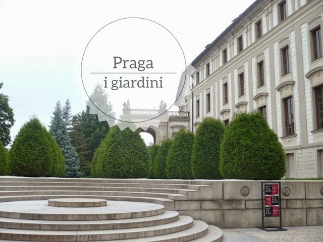 Alla scoperta dei giardini di Praga. giardini del castello