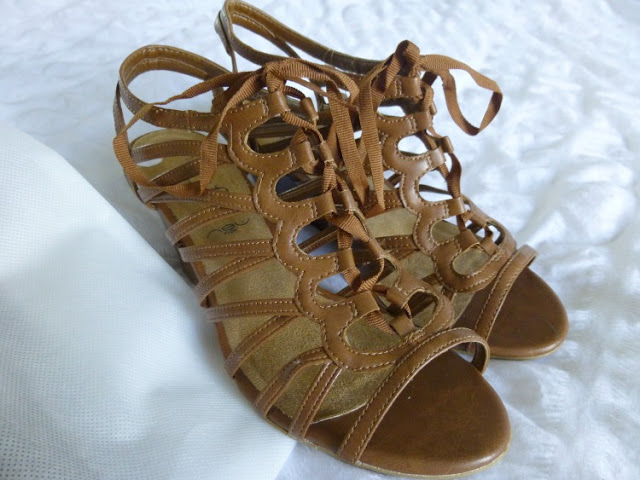 New Look Lace Up Cage Wedges