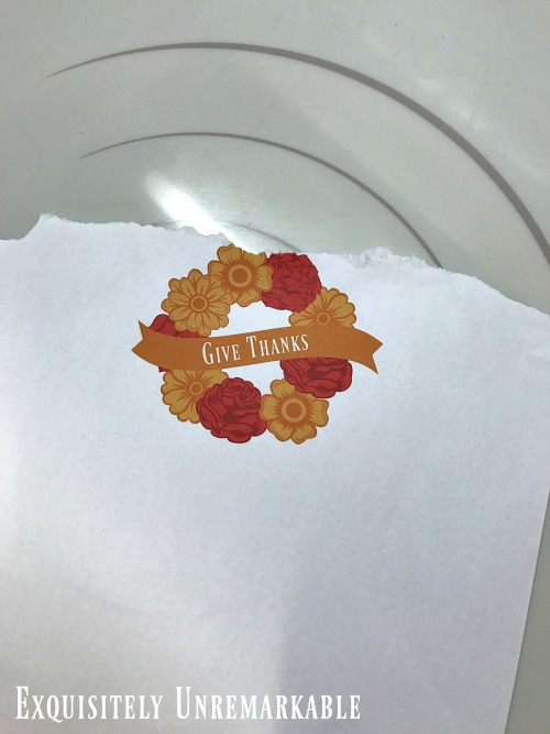 Small Printed Give Thanks Wreath