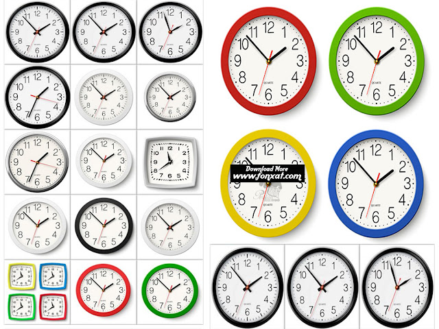 Download Images Vector wall clock with classic frame - Wall Clock In Classic Body
