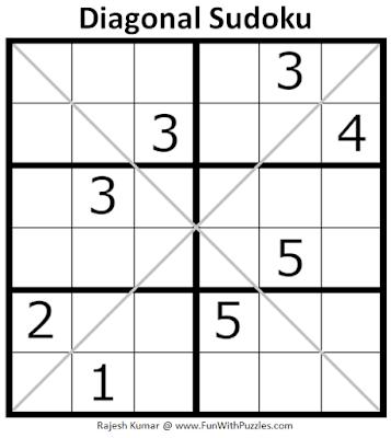 Diagonal Sudoku Puzzle (Mini Sudoku Series #108)