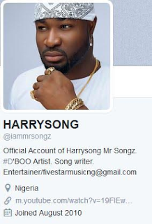 Harrysong deletes alter plate from his bio