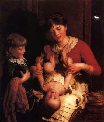 Мать с двумя детьми. Seymour Joseph Guy (1824-1910)