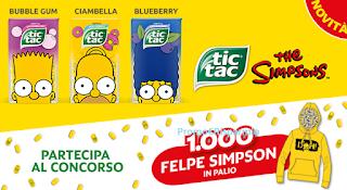 Logo Con Tic Tac vinci 1.000 felpe dei Simpson