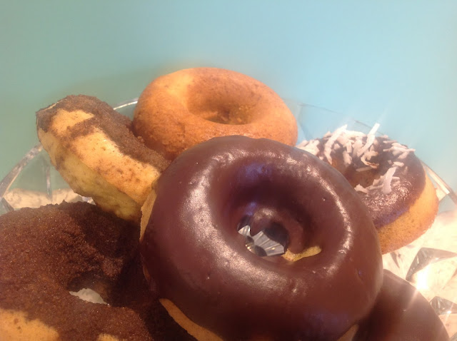chocolate glazed gluten free doughnuts