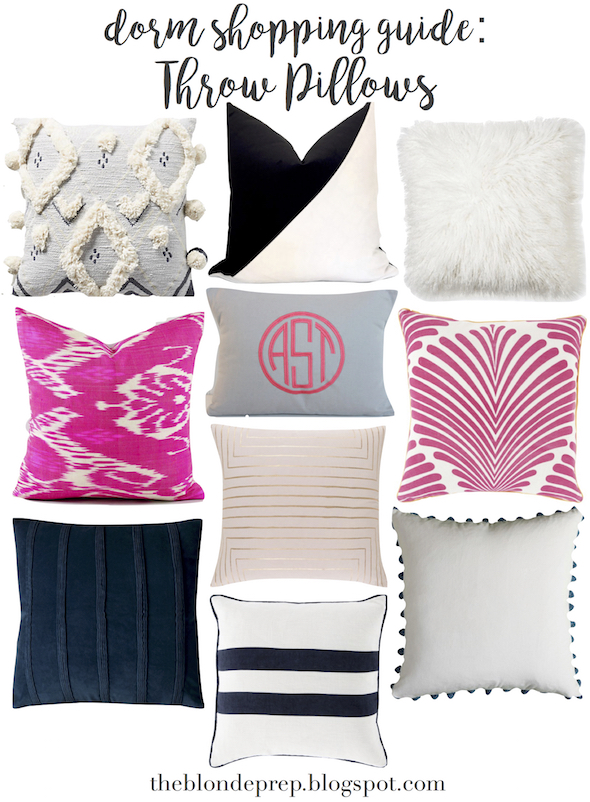 Dorm Shopping Guide Rugs Throw Pillows