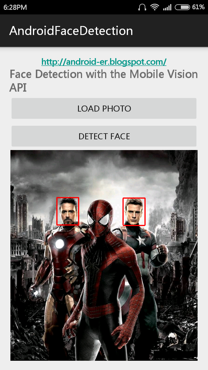 Android-er: Face Detection with Google Play services, Mobile