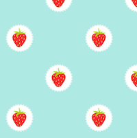 strawberry pattern paper