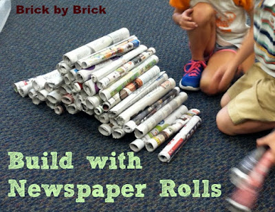 Build with Newspaper Rolls (Brick by Brick)