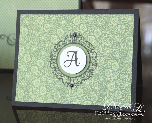 Dream in Color...: JustRite's Graceful Monogram and Graphic 45