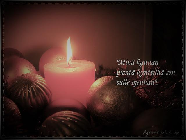 joulukuva tekstillä