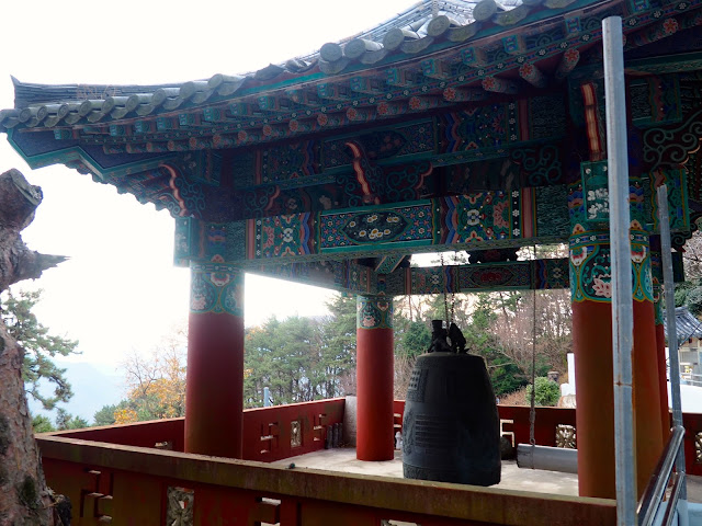 Bell tower of Seokbulsa Temple on Geumjeongsan Mountain, Busan, South Korea