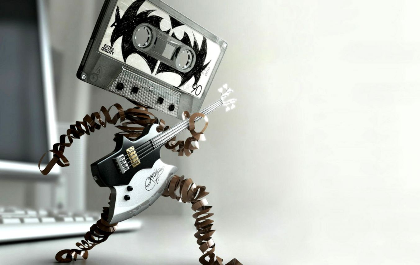 Rocking Cassette Player Wallpaper and Background Image 1440x900
