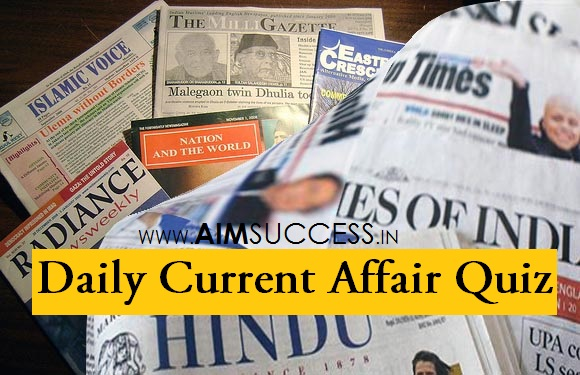 Daily Current Affairs Quiz : 02 August 2018
