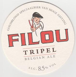 sous-bock de la bière belge Filou
