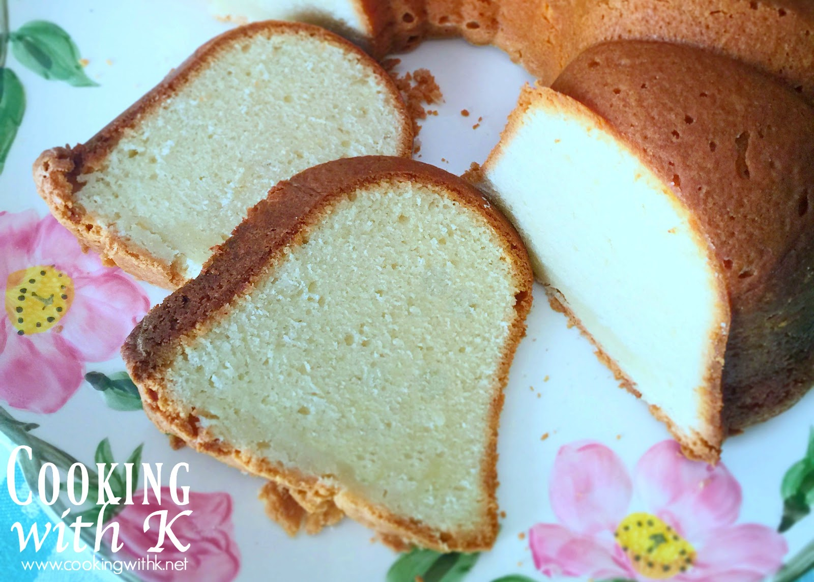 Cooking With K Southern Cream Cheese Pound Cake