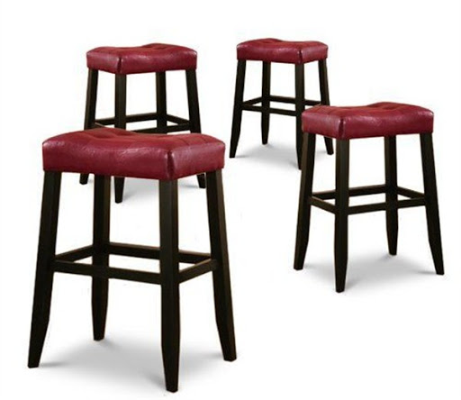 Red cushions  for bar stools