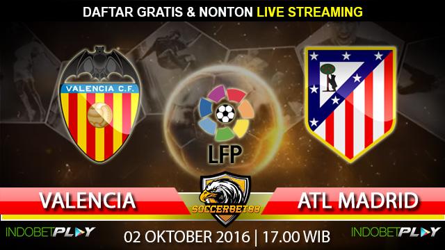 Prediksi Valencia vs Atletico Madrid 02 Oktober 2016 (Liga Spanyol)