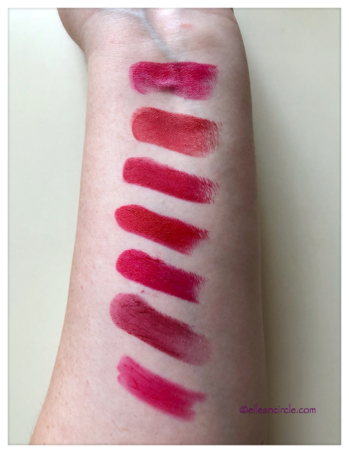 Red Lipstick, Lipstick Collection, Nars, Tom Ford, Charlotte Tilbury, Lâncome, swatches