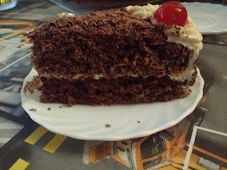 tarta selva negra con bizcocho genoves