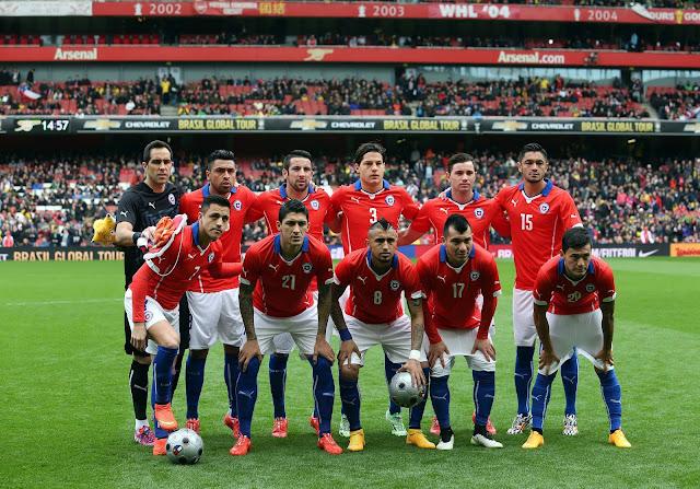 Formación de Chile ante Brasil, amistoso disputado el 29 de marzo de 2015