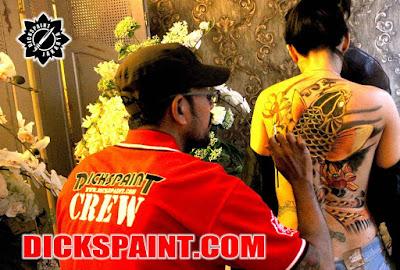Body Painting Koi Fish Yakuza Jakarta