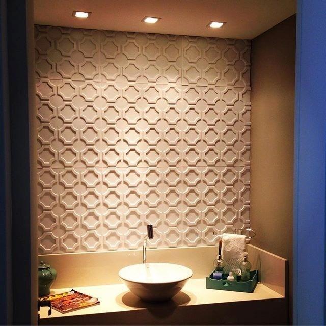 Revestimento 3d quando a parede vira um objeto de for Placas pvc para paredes