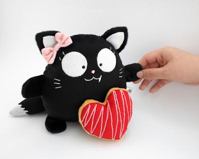 Blacky Gatita Negra  Peluche Guyuminos Gattini Gifts etsy regalo navidad gato halloween