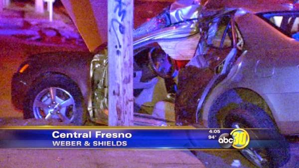 fresno honda accord car crash larry downs collision shields weber avenue