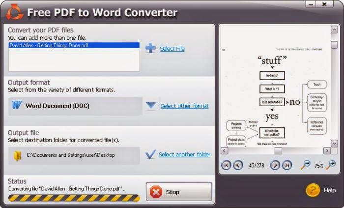comment utiliser free pdf to word converter