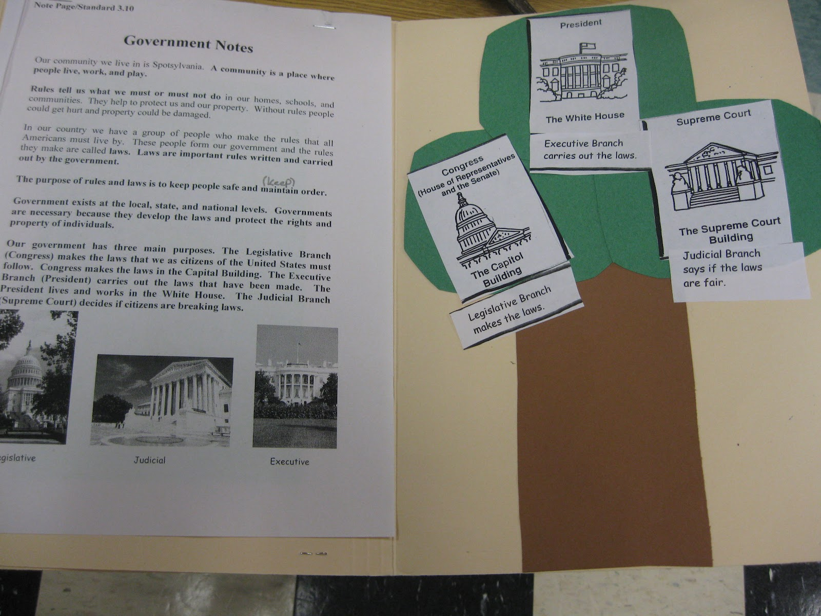 Third Grade Thinkers Civics And Government Lapbook A Make And Take Study Guide
