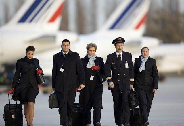 Hotesses et pilotes Air France