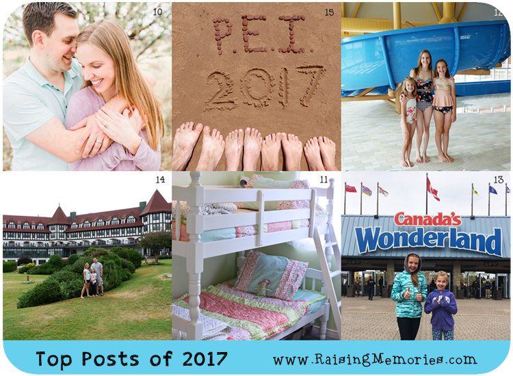 Top 17 Posts of 2017 on www.RaisingMemories.com