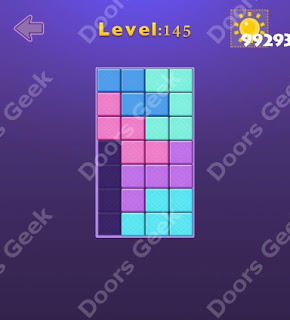 Cheats, Solutions, Walkthrough for Move Blocks Easy Level 145