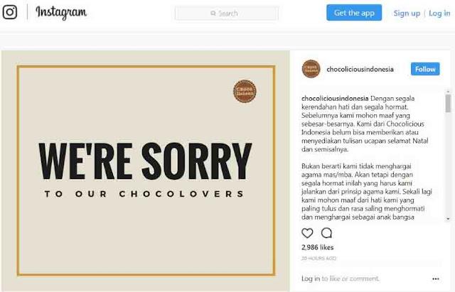 Pegang Prinsip Agama, Chocolicious Indonesia Tak Ucapan Natal Meski Dibully